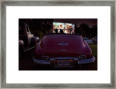 The Drive- In Framed Print