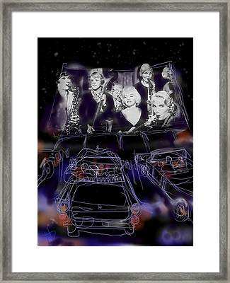 The Drive In Framed Print by Russell Pierce