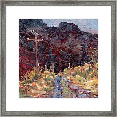 The Driveway Framed Print by Donald Maier