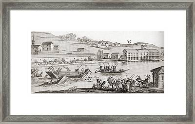The Drownings At Nantes. A Series Framed Print by Vintage Design Pics
