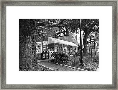 The Drug Store Framed Print by Scott Pellegrin