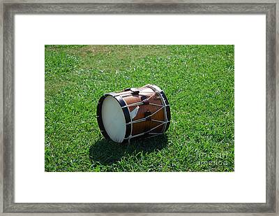 The Drum Framed Print by Eric Liller