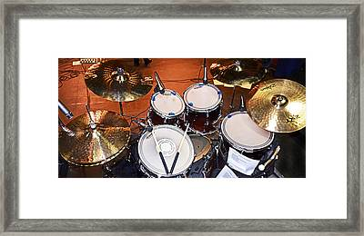 The Drum Set Framed Print
