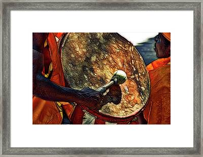 The Drum Speaks Framed Print by David Coleman