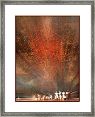 The Drumbeat Rising Framed Print