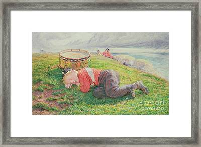 The Drummer Boy's Dream Framed Print by Frederic James Shields