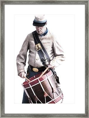 The Drummer Framed Print by David and Carol Kelly