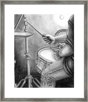 The Drummer Framed Print by Scarlett Royal
