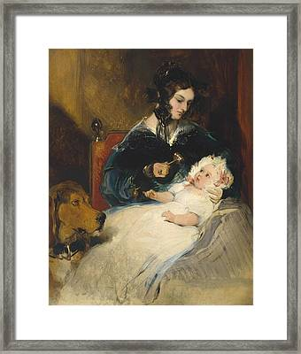 The Duchess Of Abercorn And Child Framed Print
