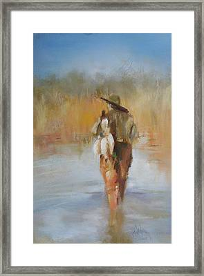 The Duck Hunter Framed Print by Debbie Anderson