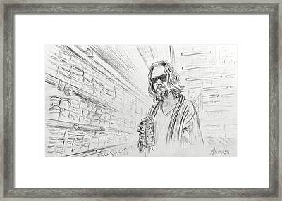The Dude Abides Framed Print by Michael Morgan