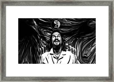 The Dude B W Framed Print by Rob Hans