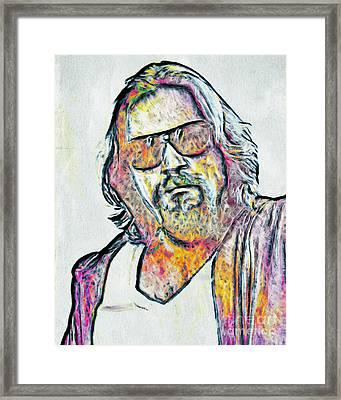 The Dude Framed Print by GabeZ Art