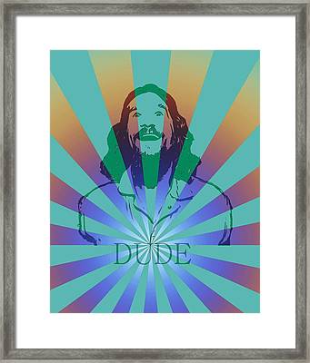 The Dude Pyschedelic Poster Framed Print