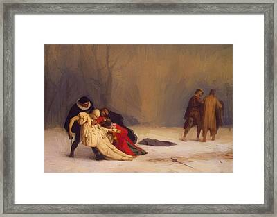 The Duel After The Masquerade Framed Print