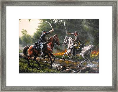 The Duel Framed Print by Dan  Nance