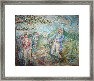 The Duel Framed Print by Joseph Sandora Jr