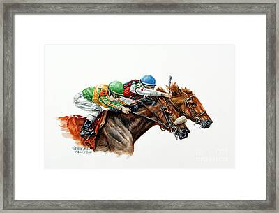 The Duel Framed Print by Thomas Allen Pauly