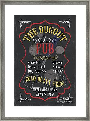 The Dugout Pub Framed Print by Debbie DeWitt
