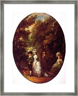 The Duke And Duchess Of Cumberland Framed Print