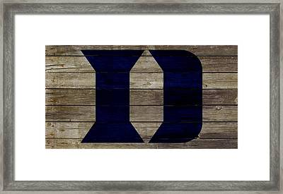 The Duke Blue Devils 2w Framed Print