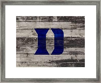 The Duke Blue Devils 3b  Framed Print by Brian Reaves