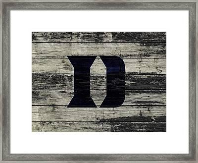 The Duke Blue Devils 3c  Framed Print by Brian Reaves