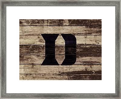 The Duke Blue Devils 3e Framed Print