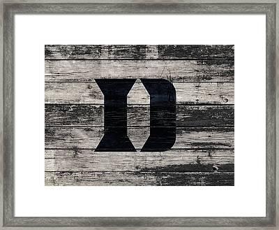 The Duke Blue Devils 3f Framed Print