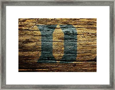 The Duke Blue Devils 5b Framed Print by Brian Reaves