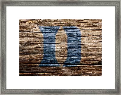The Duke Blue Devils 5c Framed Print by Brian Reaves
