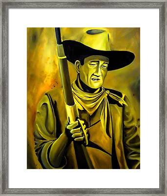 The Duke  Framed Print by Chris  Leon