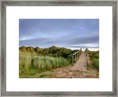 The Dune Bridge Framed Print