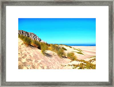 The Dunes At Morro Bay California Framed Print by Barbara Snyder