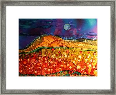 The Dunes At Night Framed Print