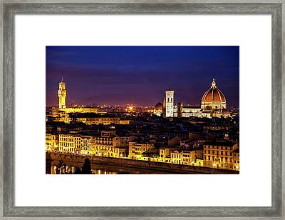 The Duomo At Twilight Framed Print by Andrew Soundarajan