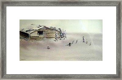 The Dustbowl Framed Print