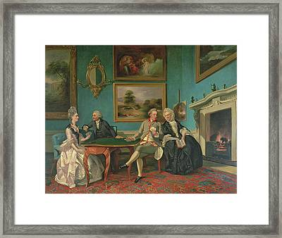 The Dutton Family In The Drawing Room Of Sherborne Park, Gloucestershire Framed Print