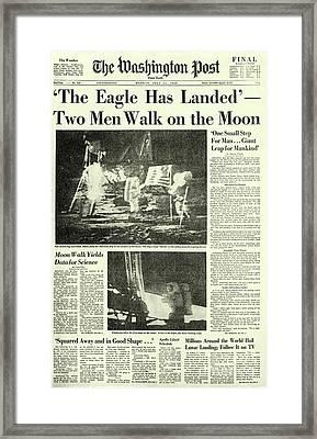 The Eagle Has Landed Framed Print by Jon Neidert