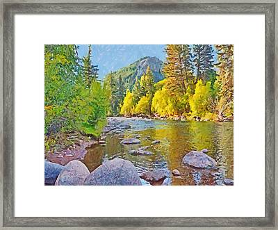 The Eagle River In October Framed Print