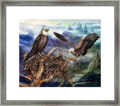 The Eagle's Nest Framed Print by Carol Cavalaris