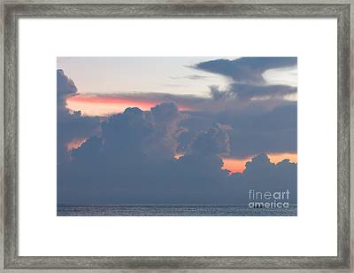 The Early Fishermen Gets The View Framed Print