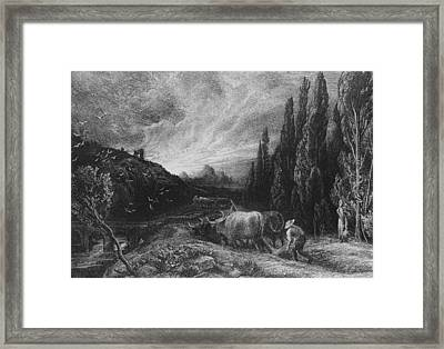The Early Plowman Framed Print