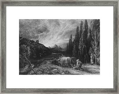 The Early Plowman Framed Print by Samuel Palmer