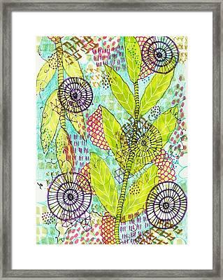 The Earth Dances Framed Print by Lisa Noneman