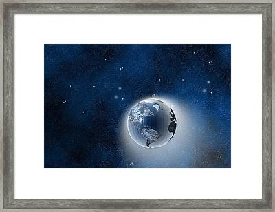 The Earth In Space Framed Print by Carol and Mike Werner