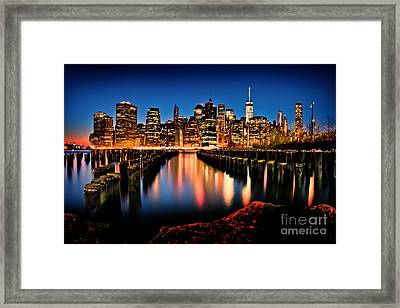 The Earth Is Bleeding Framed Print by Az Jackson