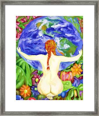 The Earth Is My Mother Framed Print