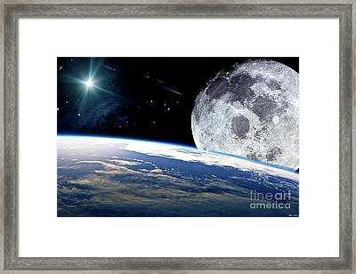 The Earth, Moon And The Stars Framed Print by Thomas Pollart