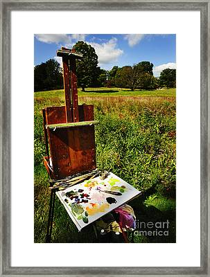 The Easel Framed Print by Jim  Calarese